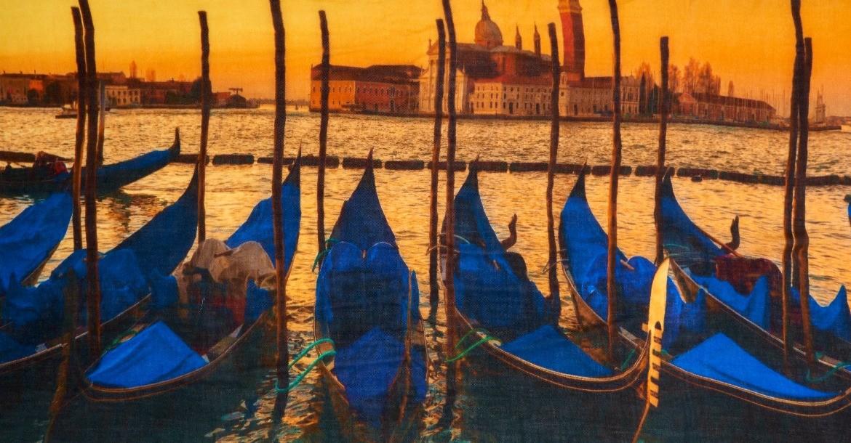 Venice blue gondolas